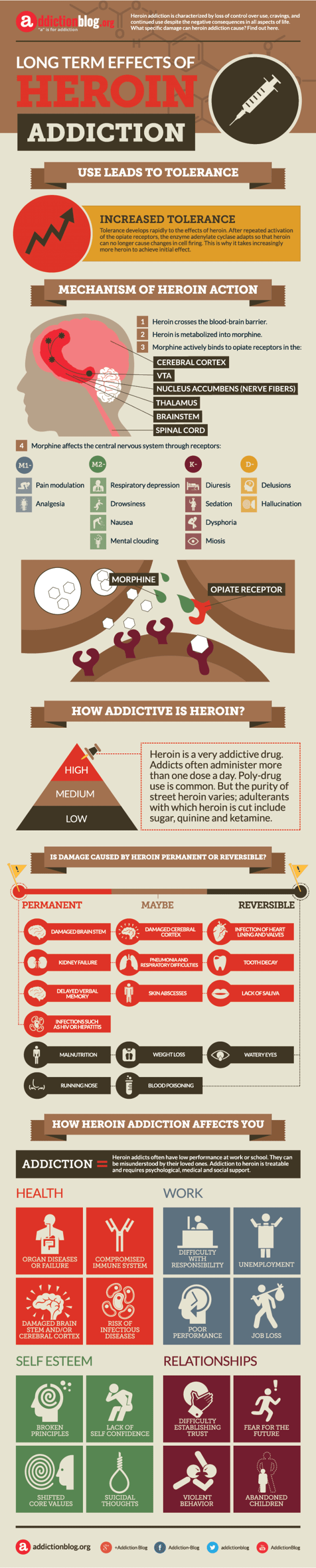 The Long Term Effects of Heroin Addiction