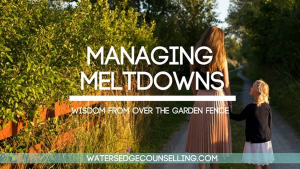 Managing Meltdowns: Wisdom from over the fence
