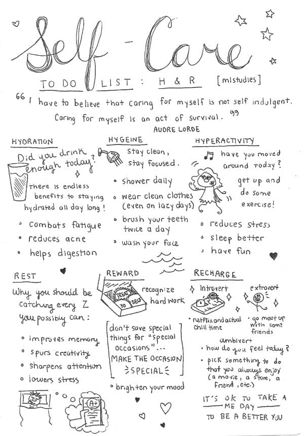 10 Amazing Self-Care Charts You Need to See - Watersedge ...