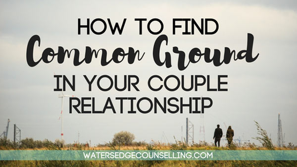 How to find common ground in your couple relationship