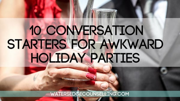 10 conversation starters for awkward holiday parties