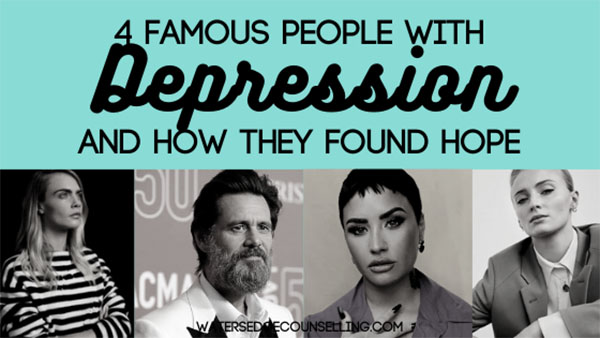 4 Famous people with Depression and how they found hope